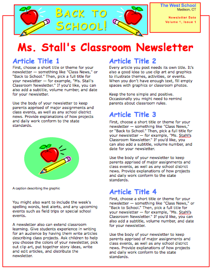 School Newsletter Template School Newsletter Template CUDDLmDW