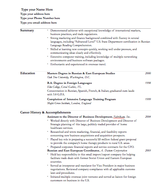 Resume Template For Pages   Free iWork Templates QfZhyqLT