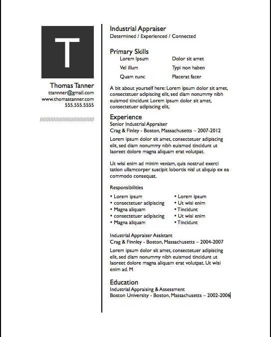 resume free iwork templates