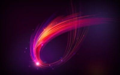 Pink Purple Celestial Swoosh Keynote Theme