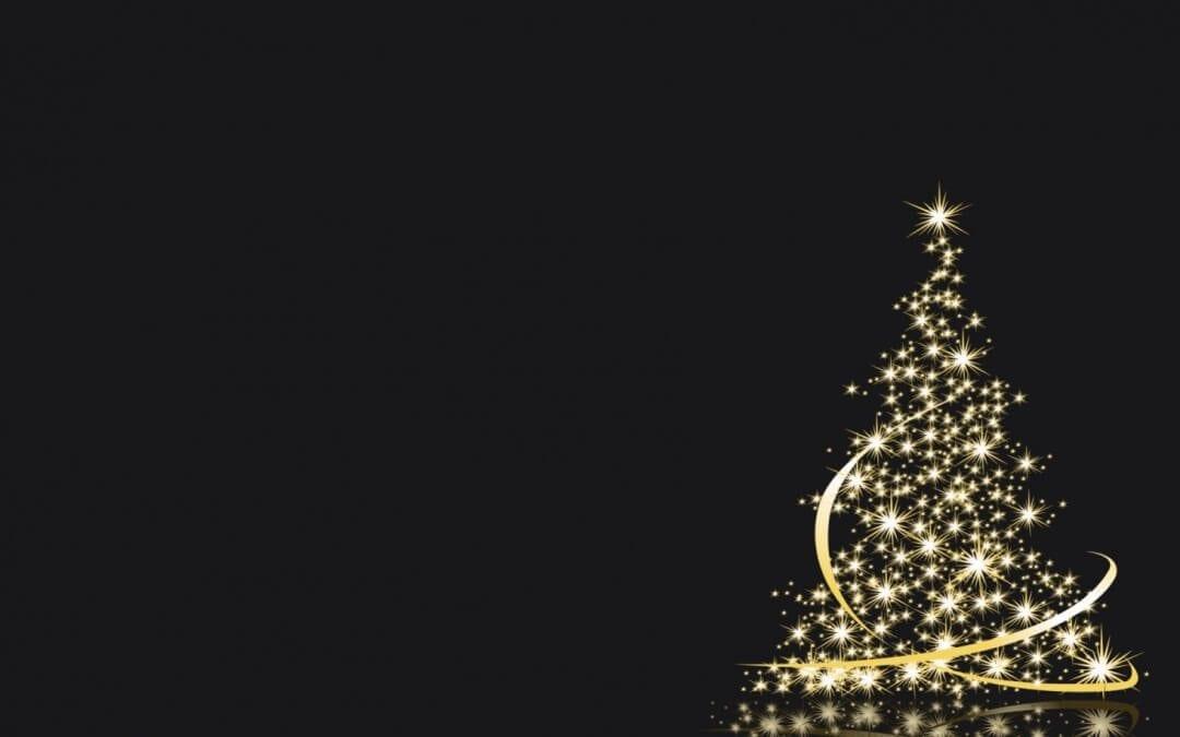 White Light Christmas Tree Keynote Theme | Free iWork Templates