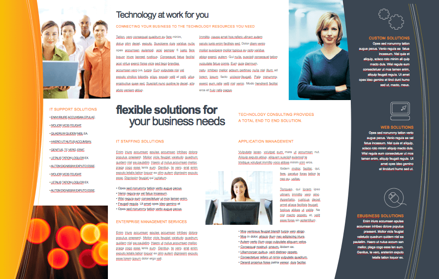 technology 11 x 17 brochure template