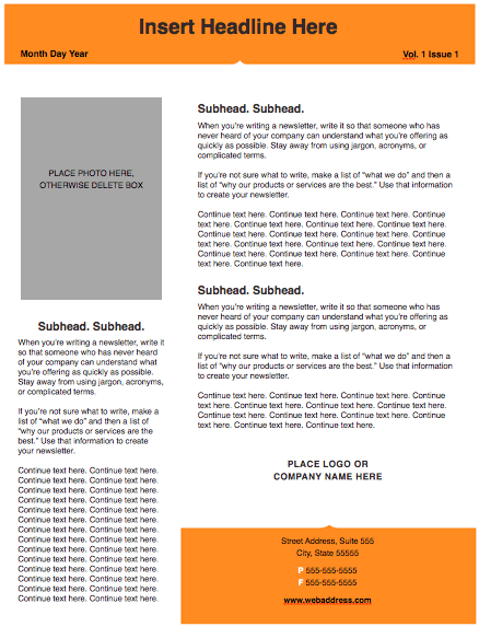 Modern solid newsletter template free iwork templates for Modern newsletter design