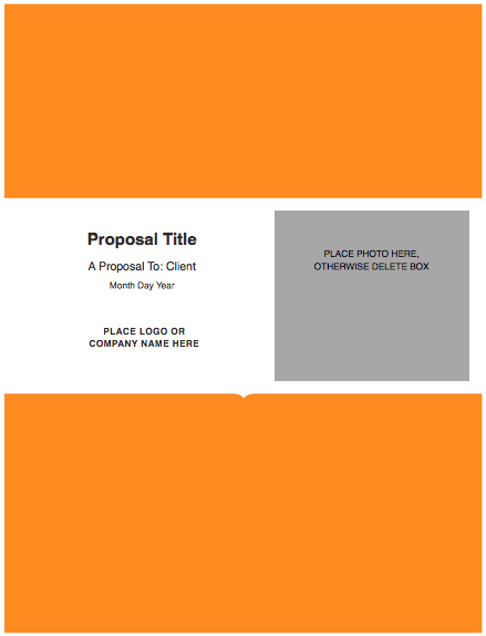 Modern Solid Proposal Template For Pages Free Iwork Templates