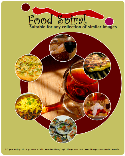 Food Spiral Menu Template