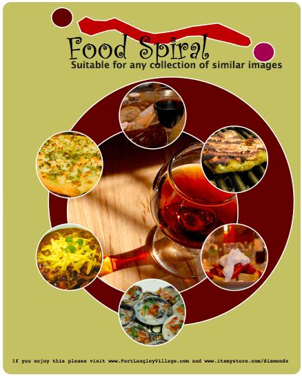 Food Spiral Menu Template
