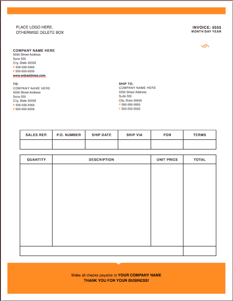 Modern-Solid Invoice Template - Free iWork Templates
