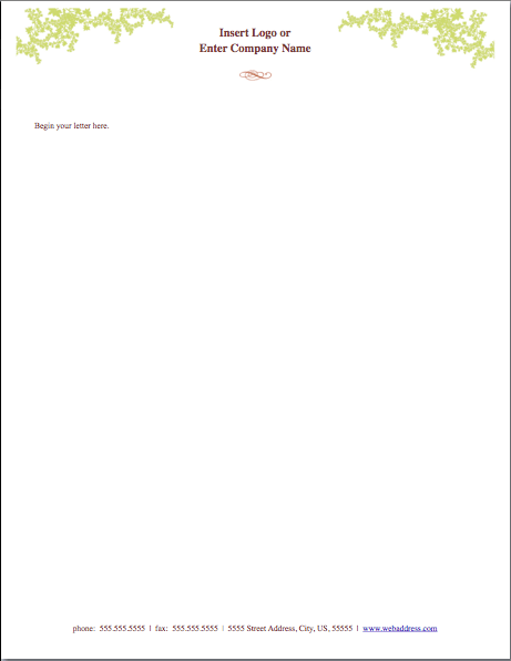 Weathered Letterhead Template