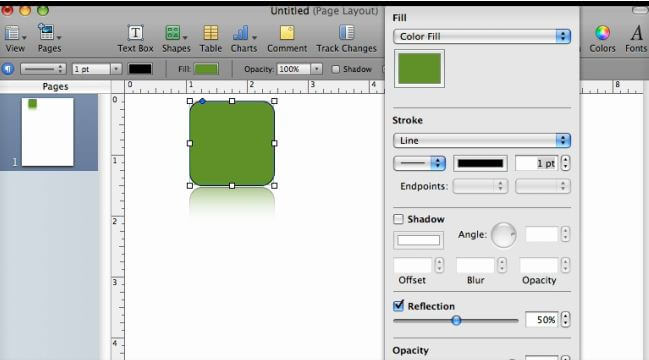 Pages '09 – Apple Reflection Technique Video Tutorial