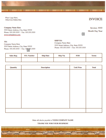 Realty Stylish Invoice Template Free Iwork Templates