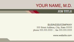 Health Stylish Business Card Template For Pages