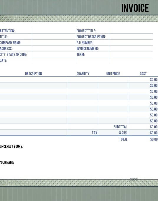 Timeless Legal Invoice Template For Numbers  Legal Invoice Template
