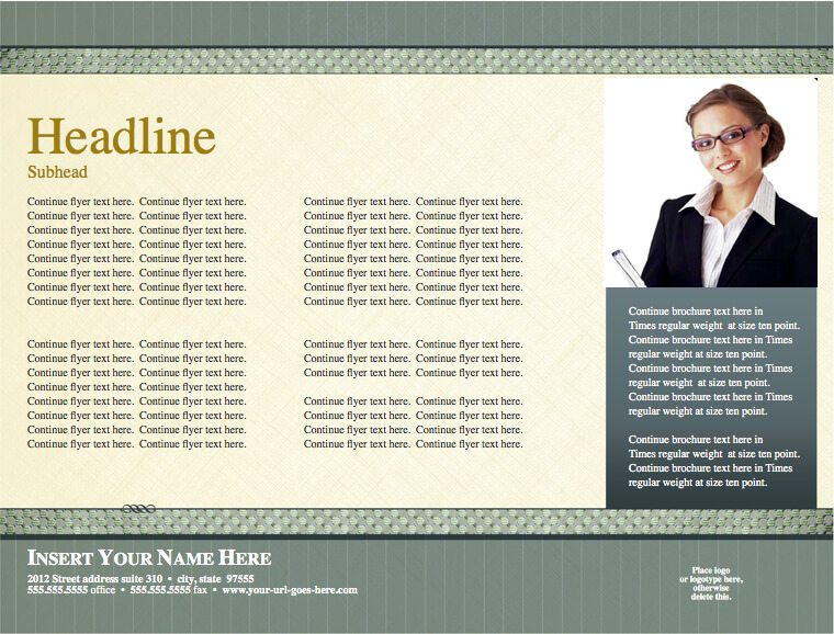 Timeless Legal Horizontal Flyer Template For Pages