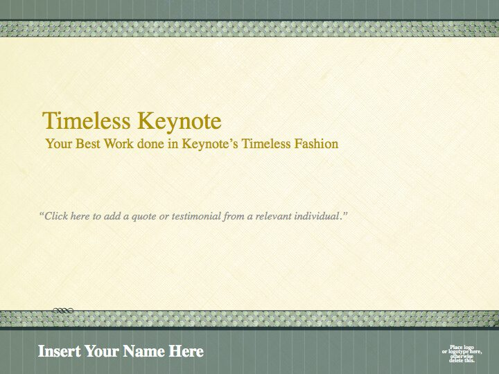 Timeless Legal Presentation Template For Keynote