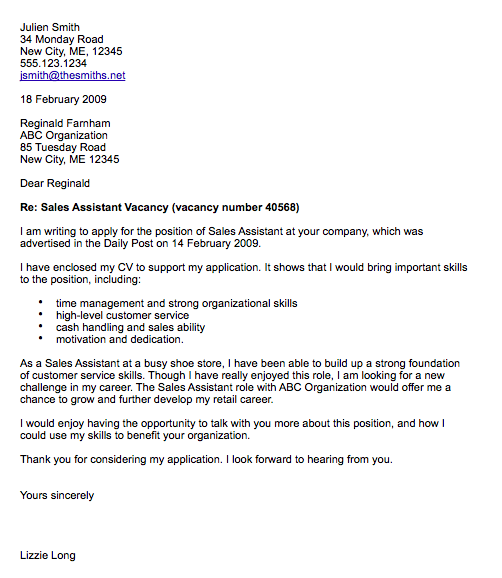 cover letter template - Cover Letter Pages