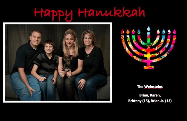 Hanukkah Postcard Template