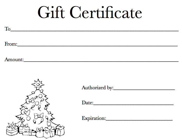 Holiday Gift Certificate Template  Free Holiday Gift Certificate Templates