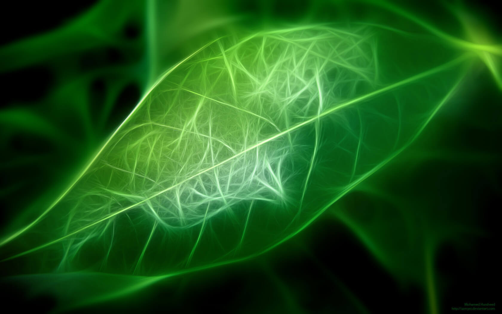 digital leaf abstract keynote theme
