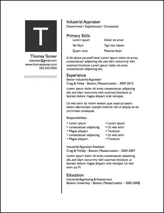 drop cap pages resume template stand out templates free