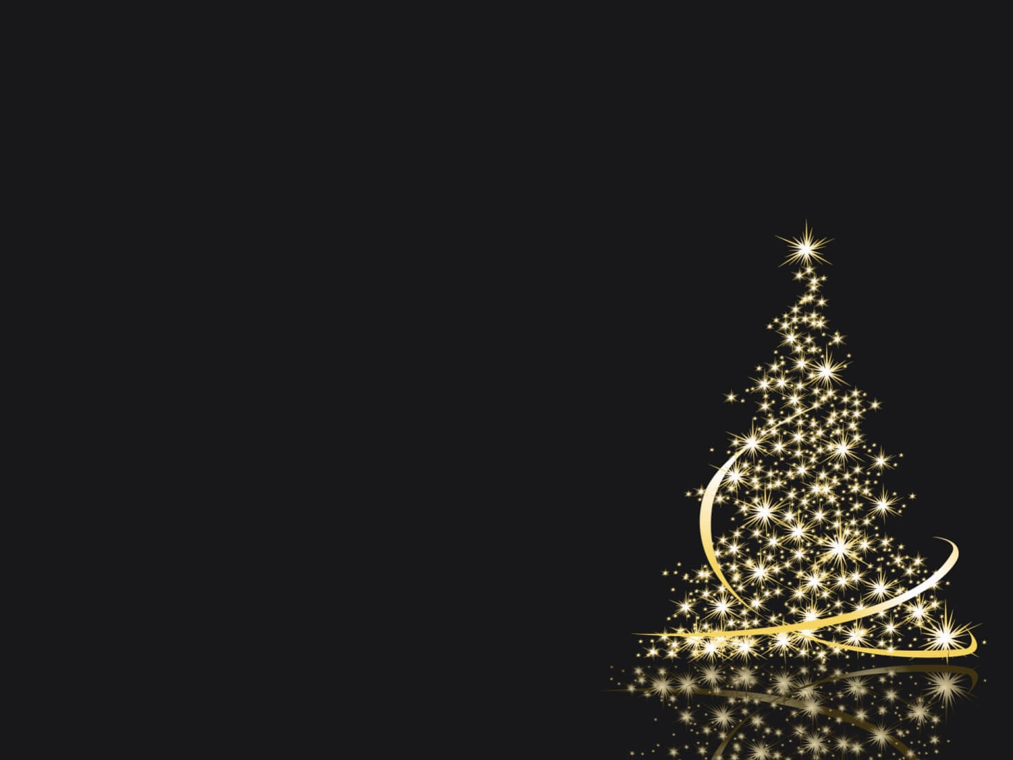White Light Christmas Tree Keynote Theme Free Iwork