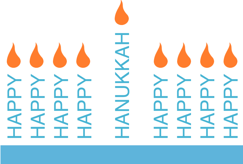 Pages Word Candles Hanukkah Card Template