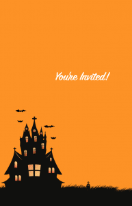 Halloween Haunted House Card Invitation