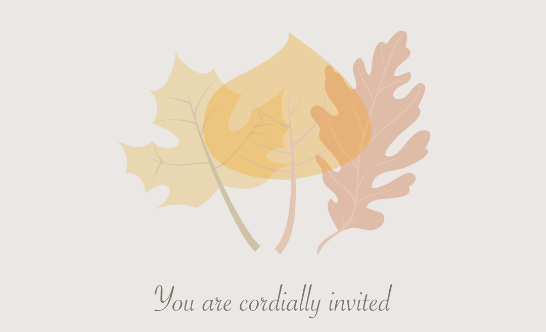 Pages Autumn Wedding Invitation Template Free Iwork Templates