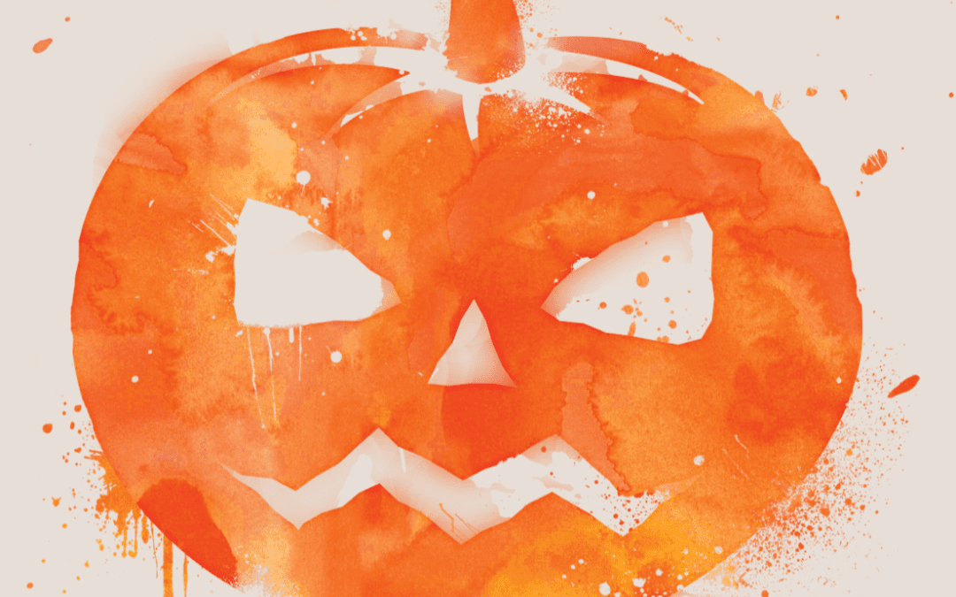 Scary Pumpkin Halloween Flyer Template for Pages